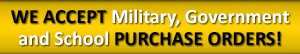 TheKickPlateStore Accepts Military, Government and School Purchase Orders
